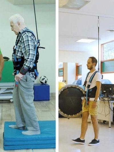 person wearing balancer